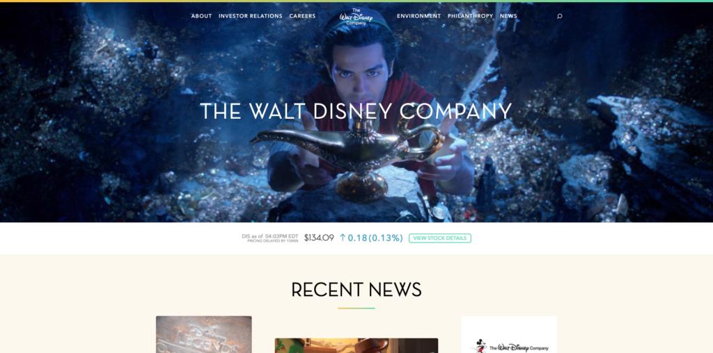 Site Disney WordPress