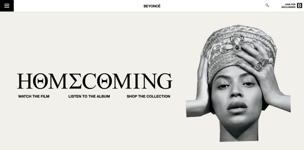 Site Beyoncé WordPress