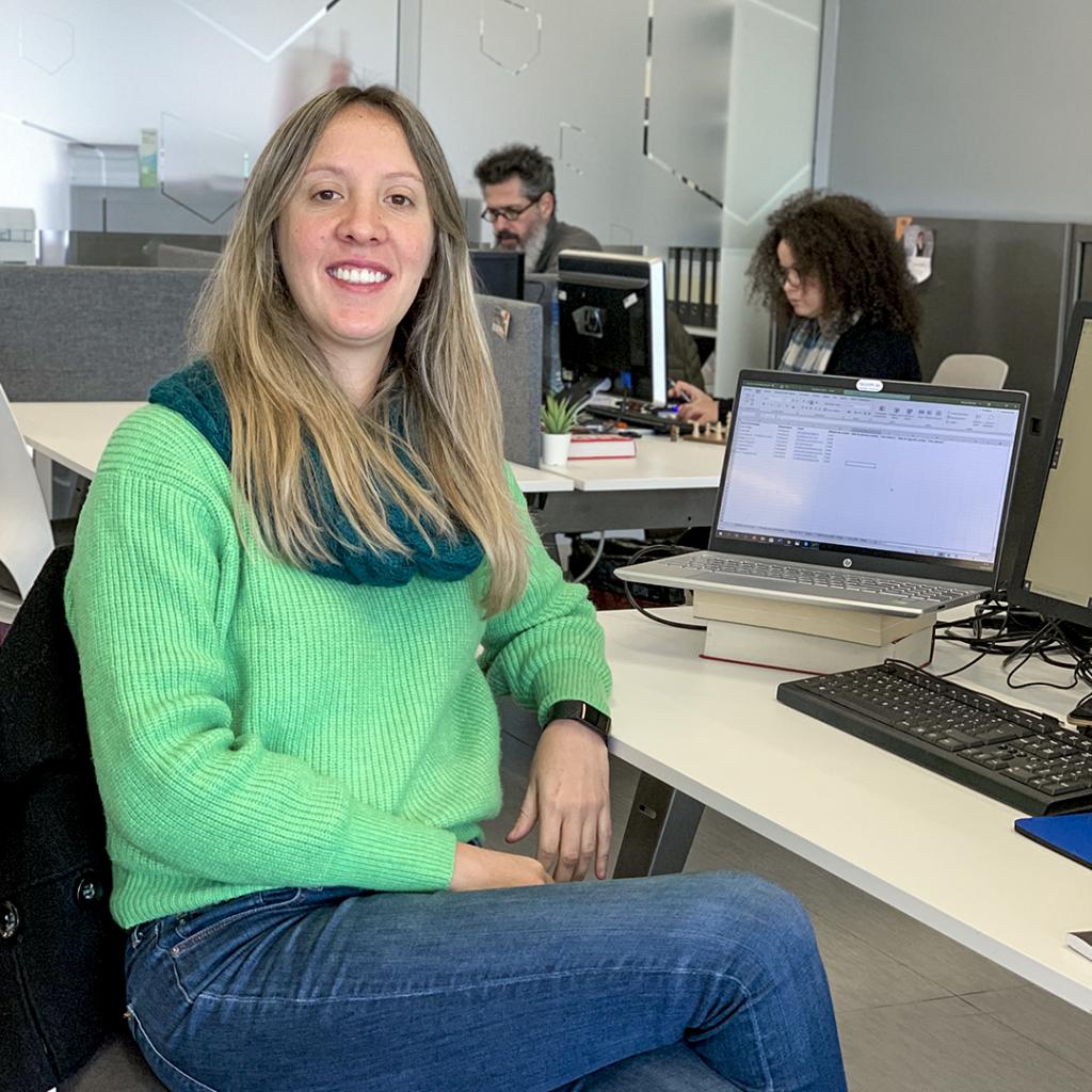 Renata no Espaço de Coworking Factory Braga
