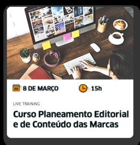 Curso Planeamento editorial e de conteúdo das marcas