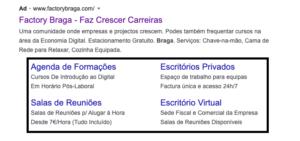 Extensões me campanhas de Google Ads