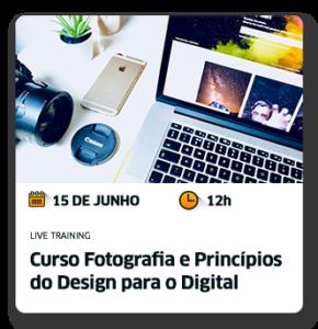 Cursos Fotografia e Princípios de Design para o Digital
